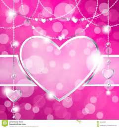 Elegant Couches cadre en forme de coeur sur le fond scintillant de roses