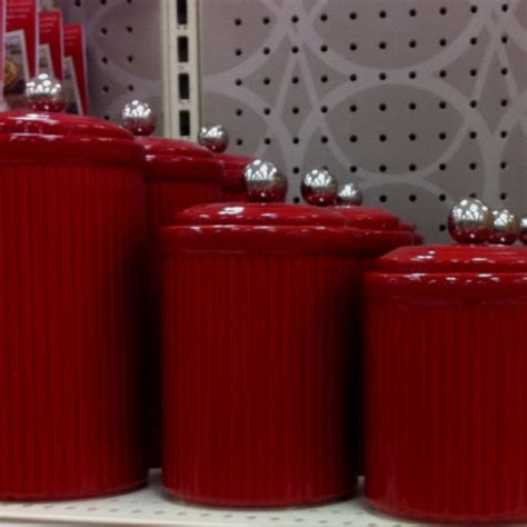 red kitchen canister canisters kitchen pinterest the o jays love and red