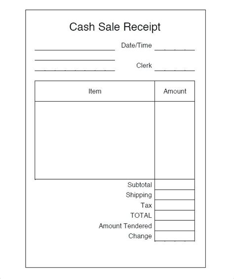 Simple Sales Receipt Template by Receipt Template Microsoft Word Kinoroom Club