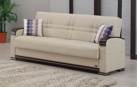 fulton bed fulton cream leather sofa bed by empire furniture usa