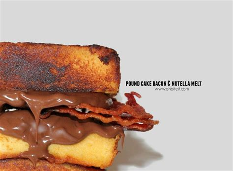 worst food bacon and nutella pound cake sandwich nutrition eat this not that