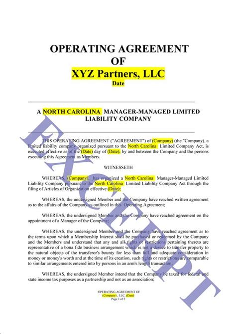 operating agreement llc simple realcreforms
