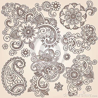 henna tattoo hält wie lange henna mehndi paisley flowers vector tattoo illustr