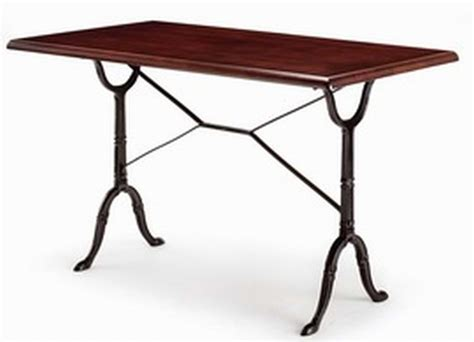 cast iron bistro table rectangular bistro table cast iron tables by trent furniture
