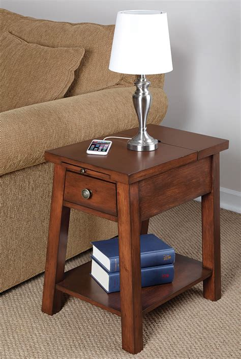 End Table Charging Station by Charging Station End Table Goenoeng