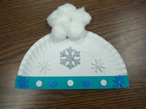 Paper Winter Crafts - snow storytime