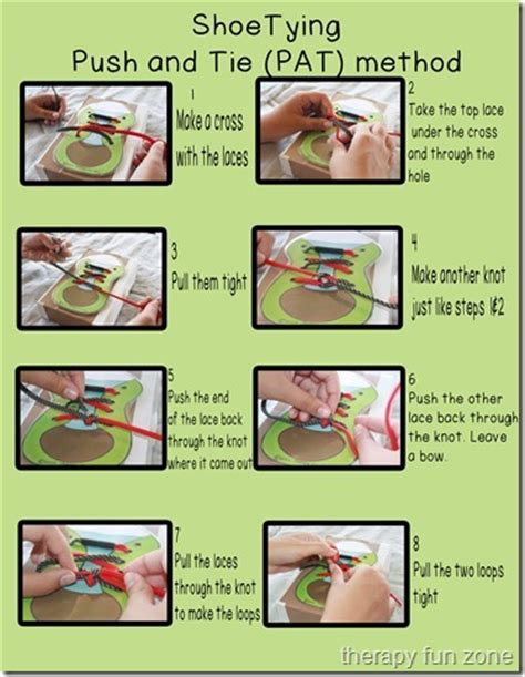 shoe tying methods shoe lacing therapy and tie shoes