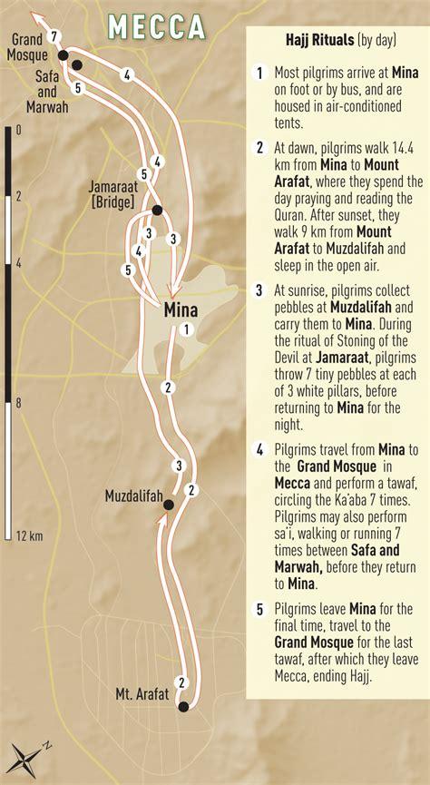mecca map saudi arabia hajj pilgrimage chapter 4 2016 yellow book travelers health cdc