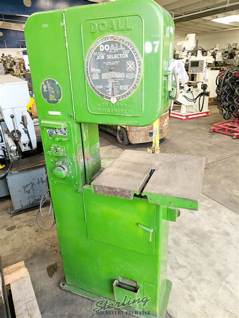 Used Doall Vertical Contour Bandsaw Vertical Bandsaw