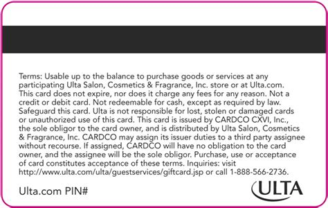 Gift Card Terms And Conditions - your ulta gift card