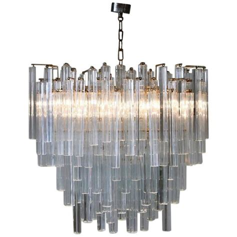 oval shaped chandelier by venini 1970s at 1stdibs