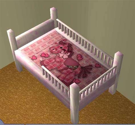 Toddle Bed Mod The Sims Toddler Bed Updated With Bars