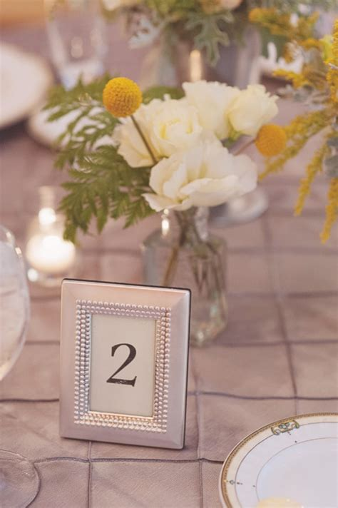 silver frames for wedding table numbers reception table number in silver frame elizabeth