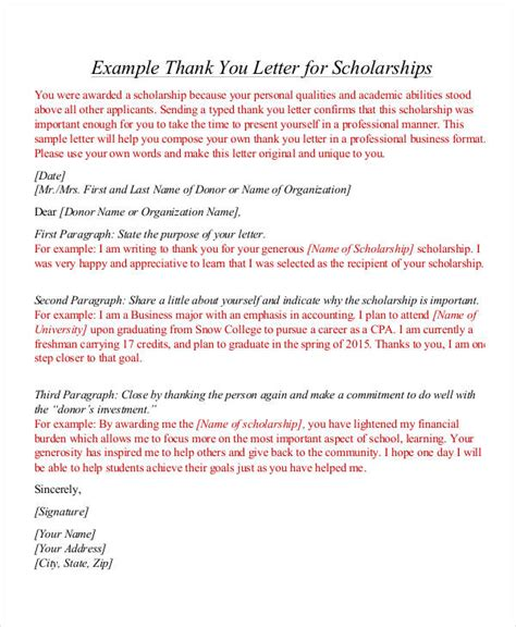 Scholarship Thank You Letter Nursing Sle Thank You Letters 52 Free Word Pdf Documents Downloads Free Premium Templates