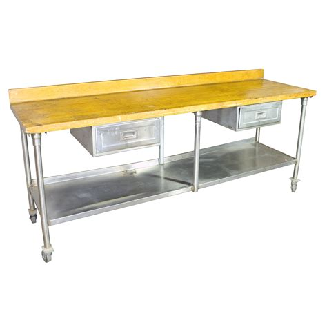 butcher block prep table butcher block prep table w 2 drawers air designs