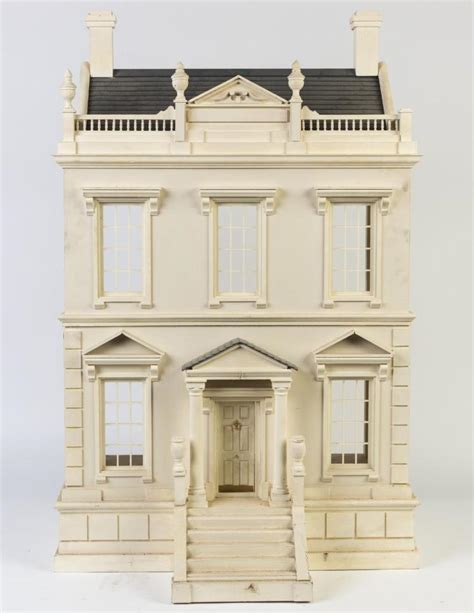 timber dolls house a timber model of a doll s house in the form of a georgian m