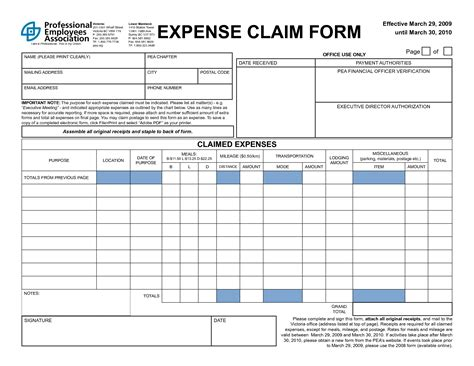 Claim Form Template 4 expense claim form templates excel xlts
