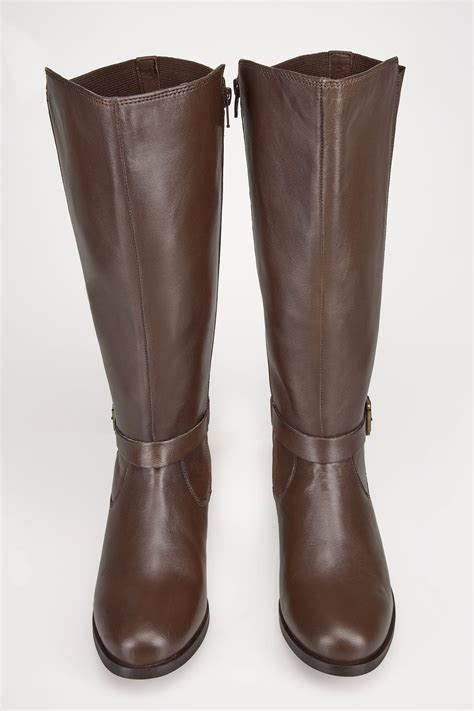 how do i register my as a service brown leather xl calf boots with stretch panels buckle in true eee fit sizes