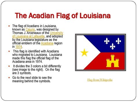the acadian flag of louisiana i live in acadiana and this flag is familiar to me all