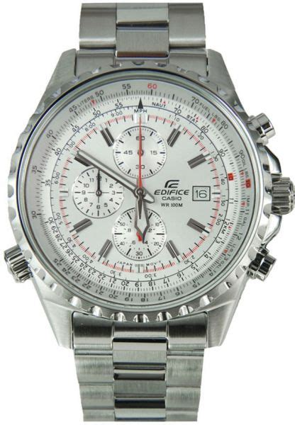 Casio Edifice Ef 259 Silver White buy casio edifice s silver chronograph stainless