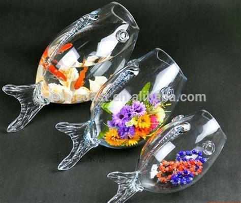 Large Glass Fish Bowl Glass Goldfish Bowl Clear Glass Fish Glass Fish Shaped Bowl Centerpieces
