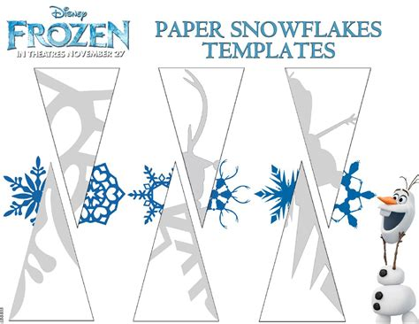 frozen paper snowflakes templates frozen photo 36023728