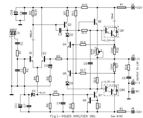 Diy Pcb Dan Komponen 12v 45w Stereo Bridge Lifier S 101 Saturn rangkaian power lifier 30 watt transistor