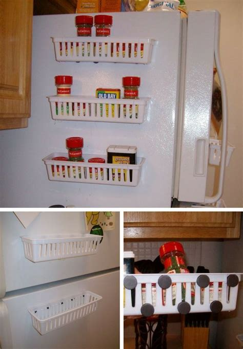 diy magnetic spice rack for refrigerator best 25 small kitchen spice racks ideas on