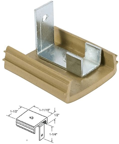 mirrored closet door top guide and bracket for monarch