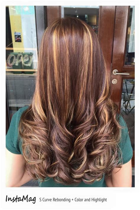 s curve hairstyle s curve rebonding with colour and highlight ziwei