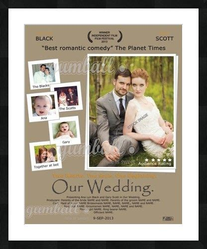 Wedding Posters Make by Wedding Poster Make An Impact Personalized Wedding