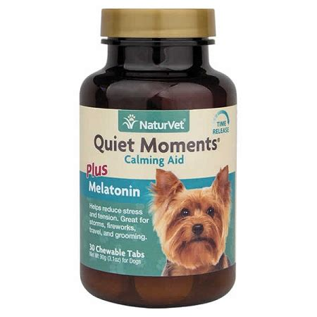 calming aid for dogs moments by naturvet 60 ct calm aid for dogs