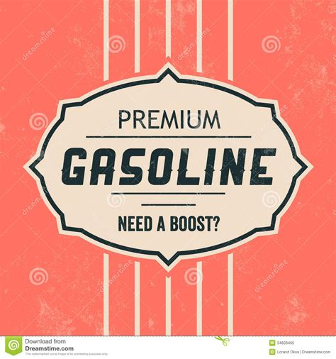 vintage gasoline sign retro template royalty free stock