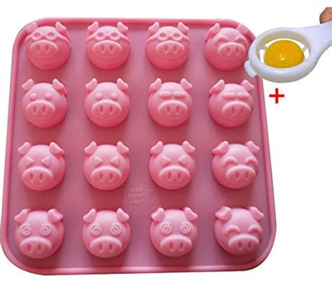 Silicone Baking Pig Expression 4x4 marzipan pigs luck marzipan gl 252 ckschwein