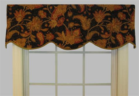 Black Cornice Window Treatment Unlined Cornice Valances Thecurtainshop