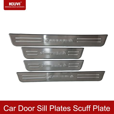 How To Get Scuff Marks Car Door by Kouvi For Hyundai Santa Fe 09 12 Stainless Steel Car Door