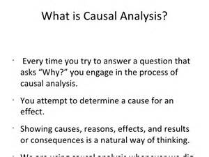 Causal Analysis Essay by The Causal Analysis Essay