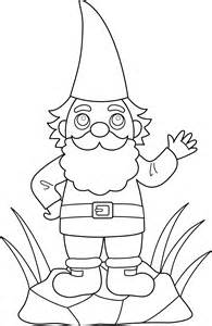 gnome coloring pages colorable garden gnome free clip