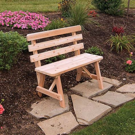 3ft garden bench red cedar traditional backed 3ft outdoor bench