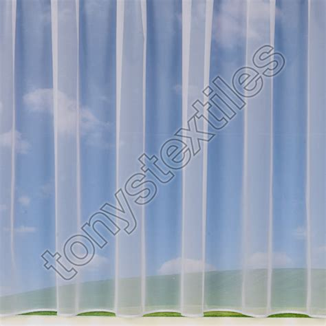 net curtains uk sale plain lead weighted bottom net curtain white tony s