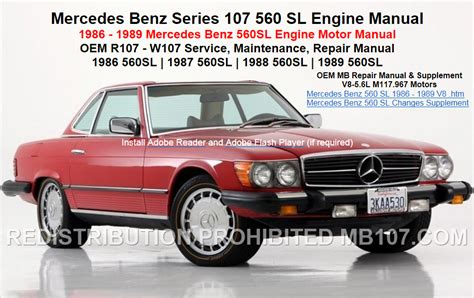 free online car repair manuals download 1986 mercedes benz s class instrument cluster mercedes benz 107 engine repair motor service manuals