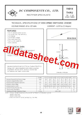 1n4148 diode applications 1n4148 datasheet pdf dc components