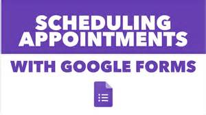scheduling appointments with google forms youtube