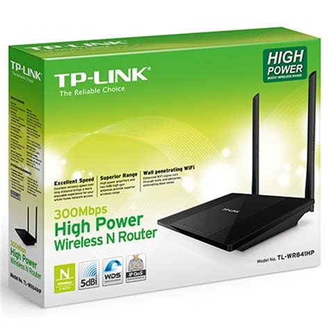 Tp Link Wireless High Power Router Detachable Antennas N300 Tl Wr841hp tp link wireless high power router with detachable antennas n300 tl wr841hp black