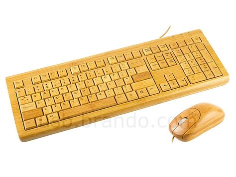 Keyboard Mouse Pc usb bamboo computer keyboard and mouse gadgetsin