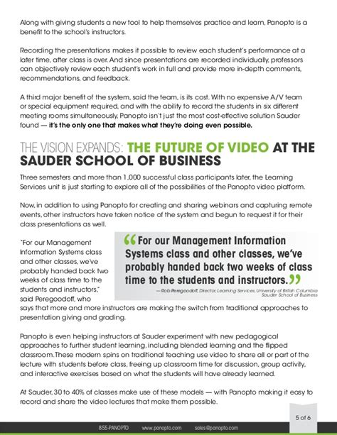 Sauder Mba Review by Study Ubc Sauder School Of Business And Panopto