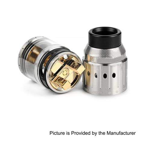 Azeroth Rdta By Coil Ss Black Authentic authentic coil master genesis rdta black 6ml 25mm rebuildable atomizer