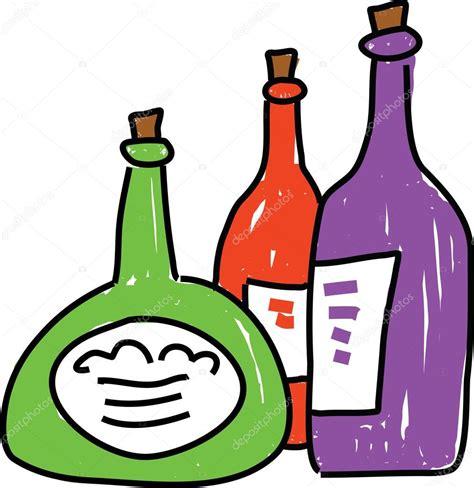cartoon wine bottle cartoon wine bottles stock vector 169 prawny 64295769