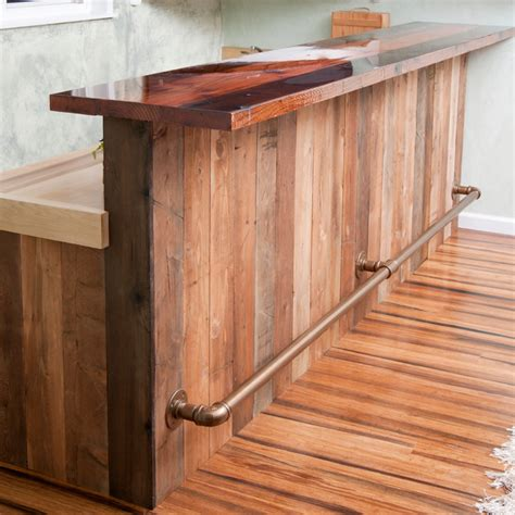Curved Kitchen Island Designs by Western Rustic Bar Rustic Home Bar Santa Barbara