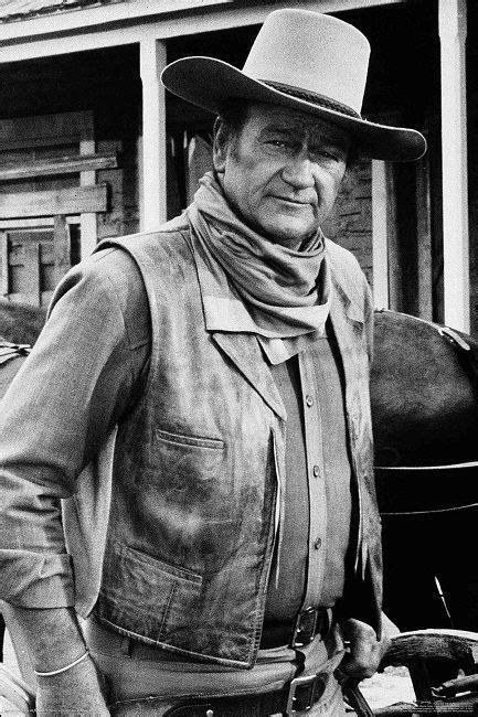 film cowboy john wayne john wayne movie cowboy stare poster standing tall